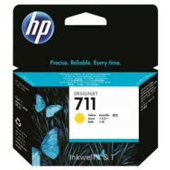 HP 711 Yellow CZ132A Ink Cartridge (Genuine)