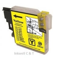 lc67y Brother LC-67HY Yellow Ink Cartridge (Compatible)