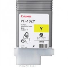 Canon PFi102 Yellow Ink Cartridge (Genuine)