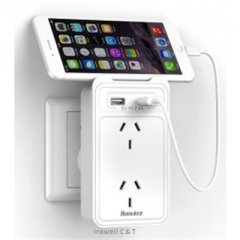 Huntkey-2-Socket-Wall-Charger-400-x-400-240x240 Huntkey 2 Socket Wall Power Station With 2 USB Charging Ports