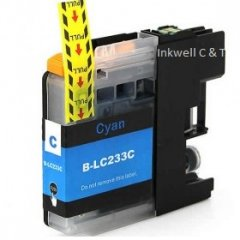 Brother LC-233 Cyan Ink Cartridge (Compatible)