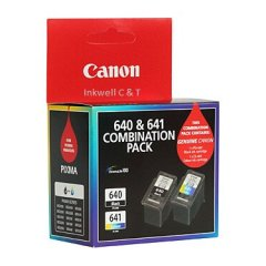 Canon PG-640 CL-641 Twin Pack 1 x Black & 1 x Colour Ink Cartridges (Genuine)