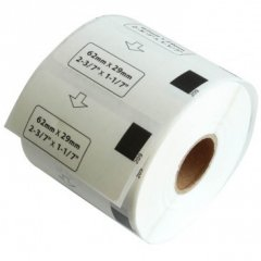 DK11209 Brother Labels White Label 29mm x 62mm 800 per roll