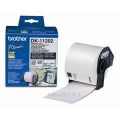 DK11202 Brother Labels White 62mm x 100mm 300 per roll