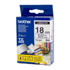 Brother TZe-241 Labels Black On White Tape