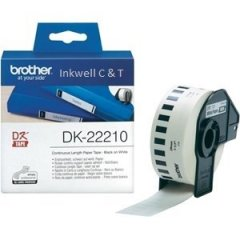 Brother Labels DK22210 White Roll 29mm x 30.48 meters (Genuine)