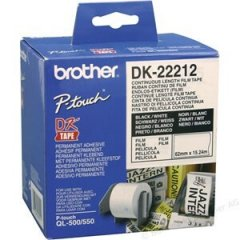 DK22212 Brother Labels White Roll 62mm X 15.24m Film Roll