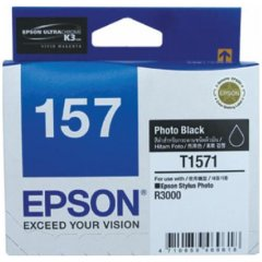 Epson T1571 [C13T157190] Photo Black Genuine Ink Cartridge