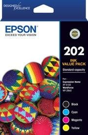 Epson 202 Bk,C,M,Y C13T02N692 4 Ink Value Pack Cartridges (Genuine)