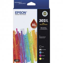 Epson 302XL Value Pack Ink Cartridges