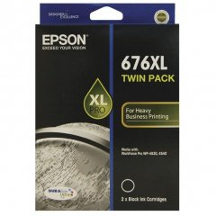 Epson 676XL Black Twin Pack Ink Cartridge