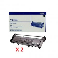 Brother TN-2350 X 2 Black Genuine Toner Cartridges