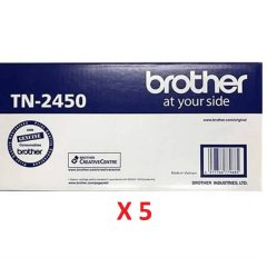 Brother TN-2450 X 5 Black Toner Cartridges