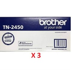 Brother TN-2450 X 3 Black Toner Cartridges