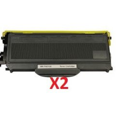 Brother TN-2150 X 2 Black Toner Cartridge (Compatible)