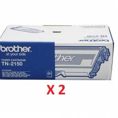 Brother TN-2150 Black X 2 Genuine Toner Cartridge
