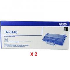 Brother TN-3440 Black Toner Cartridges X 2