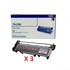 Brother TN-2350 X 3 Black Genuine Toner Cartridges