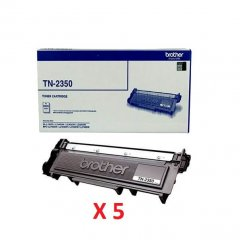 Brother TN-2350 X 5 Black Genuine Toner Cartridges