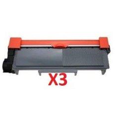 Brother TN-2350 X 3 Black Toner Cartridge (Compatible)