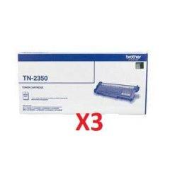 Brother TN-2350 X 3 Black Toner Cartridges (Genuine)