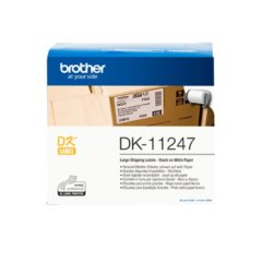 Brother DK-11247 Black on White Label 103mm X 164mm Genuine Labels