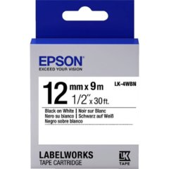 Epson [C53S654103] 12mm x 9m Black on White Labels