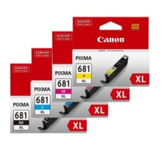 Genuine Canon CLI-681XL VALUE PACK – 4 Bk,C,M,Y Ink Cartridges
