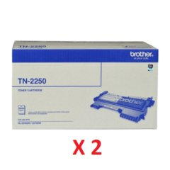 Brother TN-2250 Black X 2 Toner Cartridges