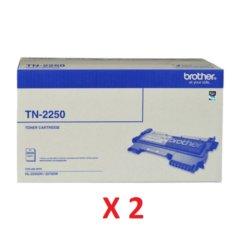 Brother TN-2250 Black Toner Cartridges X 2