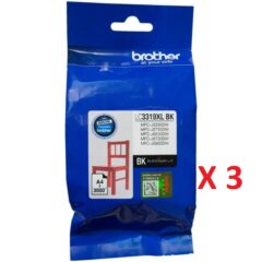 Brother LC-3319XL Black Ink Cartridge X 3