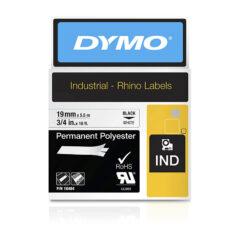 DymoRhino Black on White Label Tape