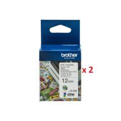 Brother CZ1002 Colour Label Cassette x 2