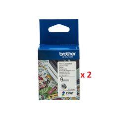 Brother CZ1001 Colour Label Cassette x 2