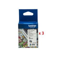 Brother CZ1001 Colour Label Cassette x 3